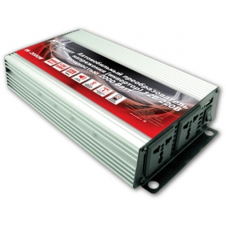 Преобразователь напряжения автомобильный AVS IN-2000W (12В > 220В, 2000 Вт, USB) AVS