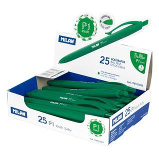 Ручка шариковая MILAN P1 Touch, 1,0мм, зеленый, 176513925