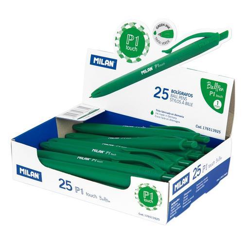 Ручка шариковая MILAN P1 Touch, 1,0мм, зеленый, 176513925 40110910