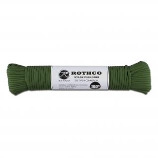 Rothco Паракорд 550 lb зеленого цвета 100 фт. нейлон