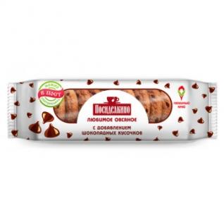 Печенье овсяное Посиделкино с шок.кусоч.310г