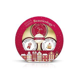 Набор Beauticology Special Delivery Red Бальзамы для губ 3х20 мл (Ванильное мороженое,Мята,Леденец) Baylis&Harding