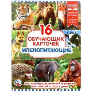 """Карточки В Папке. """"Умка"""" Млекопитающие.Объем: 16 Карточек. Формат: 167х218мм"""