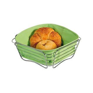 Корзина для хлеба со съемной подкладкой KESPER 25 х 25 х 10 см, зеленый
