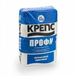 Штукатурка Крепс Профи машинное и ручное нанесение /25,0 кг/ (48 шт на поддоне)