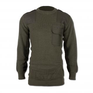 Made in Germany Пуловер в стиле Бундесвера, цвет оливковый, новый