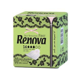 Ультратонкие гигиенические прокладки RENOVA, 14 шт