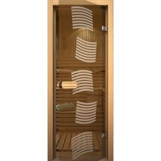 Дверь для сауны АКМА Арт-серия GlassJet МОДЕРН 7х19 (коробка -осина/липа)