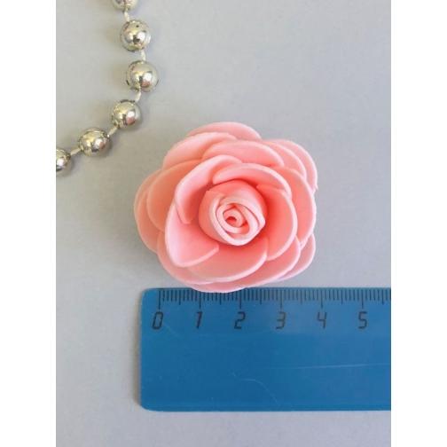 Роза из латекса 40мм, круглая, 1 шт, персик 36977828