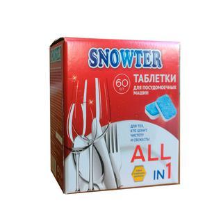 Таблетки для посудомоечных машин SNOWTER 60шт