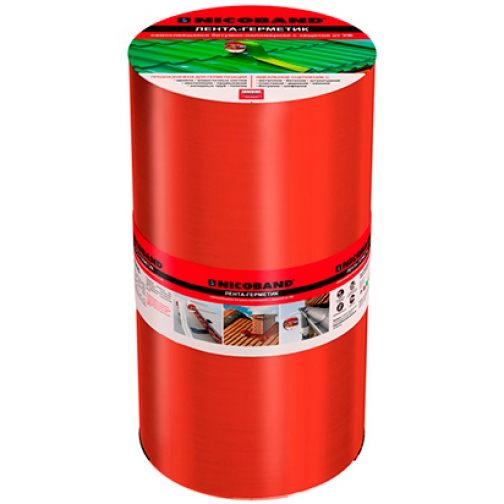 ТЕХНОНИКОЛЬ Никобенд гидроизоляционная лента 30см х 10м красный / NICOBAND гидроизоляционная лента 30см х 10м красная Технониколь 36984025