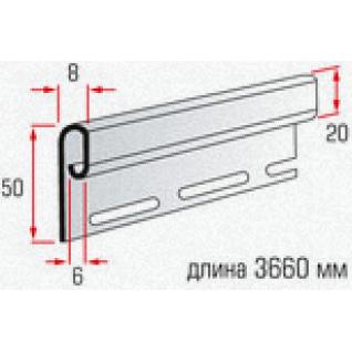 АЛЬТА планка финишная (3,66м) / Планка финишная Т-14 для монтажа сайдинга (3,66м)
