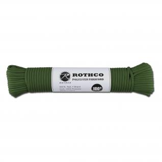 Rothco Паракорд 550 lb 100 фт. полиэстер зеленого цвета