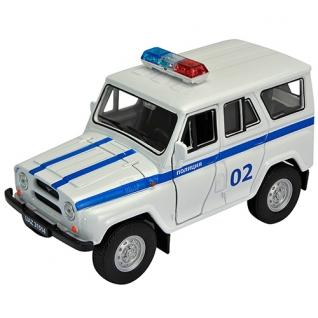 """Инерционная коллекционная машинка """"УАЗ 31514"""" - Полиция, 1:34-39 Welly"""