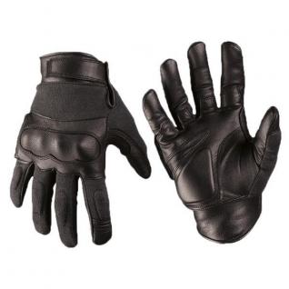 Перчатки кожаные Kevlar, цвет черный