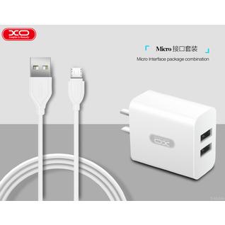 Сетевое зарядное устройство XO L17 с кабелем Micro