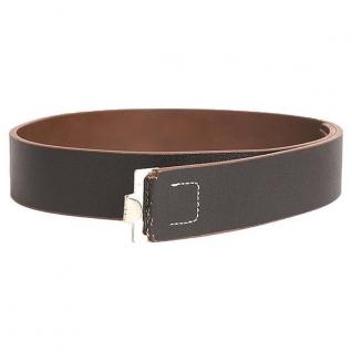 Mil-Tec Ремень WH поясной кожаный 45 мм, цвет черный