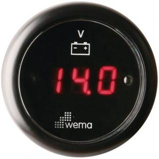 Wema Вольтметр цифровой с красным ЖК-экраном Wema IEVR-BB-8-32 8 - 32 В 52 мм