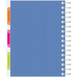 Бизнес-тетрадь 140л,кл,А5,SPIRAL BOOK Синий,евроспир,обл.пласт,раздел.84113