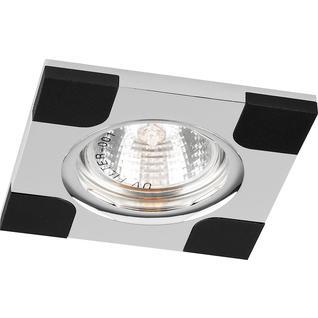 Светильник потолочный, MR16 G5.3 черный и хром, DL191 Feron