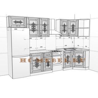 Кухня БЕЛАРУСЬ-8.1 модульная угловая, правая, левая