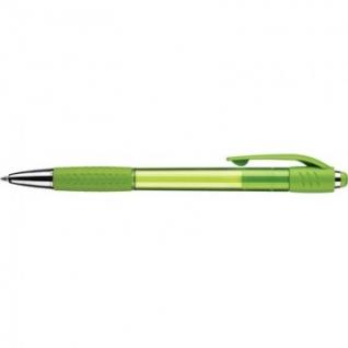Ручка шариковая Attache Happy,зеленый корпус,цвет чернил-синий