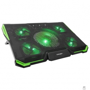 "Crown CROWN Подставка для ноутбука CMLS-k332 GREEN ( до 19"" Размер 410*292*29мм , кулеры: D140mm*1+ D80mm*4, зелёная led подсветка, регулятор скорости, 7 уровней наклона)"