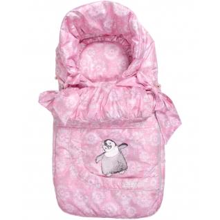 Зимний конверт для новорожденного, Розовый Одуванчик