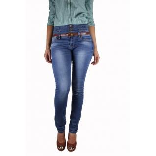 Женские джинсы с ремнём MossMore MR-1152C-393