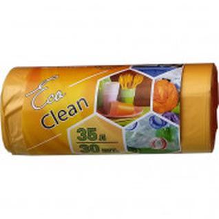 Мешки для мусора ПНД 35 л. 48х58см , 8мкм желтый,30шт/рул