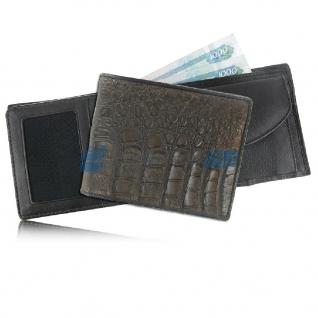 Мужской кошелек из кожи крокодила, тёмно-коричневый