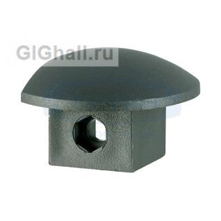 Торцевая заглушка черный пластик T-604R