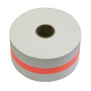 Лента бандерольная для автомат. упаков. монет 112 мм красная, бобина 300м