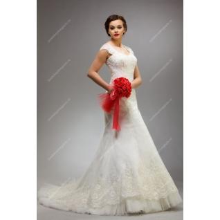 Платье свадебное со шлейфом, модель №117а