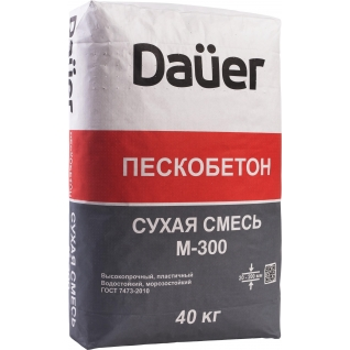 ДАУЭР пескобетон М-300 (40кг) / DAUER смесь М-300 пескобетон (40кг) Дауэр