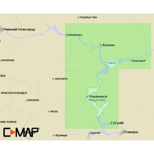 Карта C-MAP MAX-N RS-N222 ( ВОЛГА. Чебоксары-Тольятти ) C-MAP