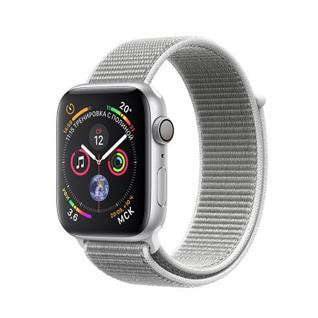 Часы Apple Watch Series 4 GPS 40mm Silver Aluminum Case with Seashell Sport Loop MU652