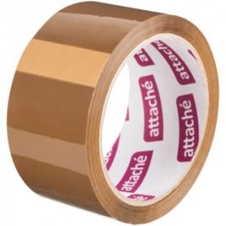 Клейкая лента упаковочная ATTACHE 48мм х 60м 40мкм коричневая