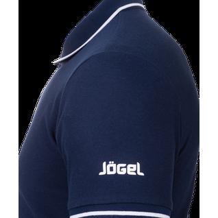 Поло детское Jögel Jpp-5101-091, темно-синий/белый размер YM