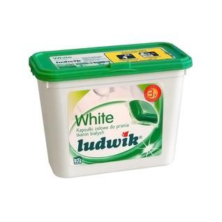 Гель в капсулах для стирки белых тканей Ludwik, 22 шт.