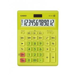 Калькулятор настольный ПОЛНОРАЗМЕРНЫЙ CASIO GR-12C-GN12 разр. салатовый