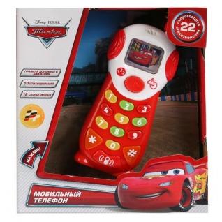 """Мобильный Телефон """"Умка"""" """"Тачки Disney"""" На Бат. Свет+Звук, Русс. Чип, 9 Обучающ. Функций"""