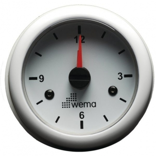 Wema Кварцевые часы белые Wema IMCR-WW 12/24 В 52 мм
