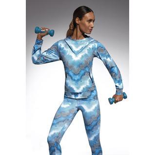 Толстовка с капюшоном для фитнеса свободного кроя Energy голубой L Energy blouse Bas Bleu