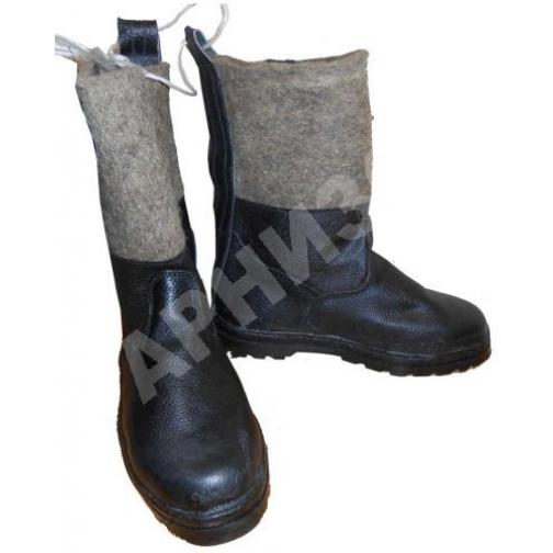 Сапоги юфтевые с войлочным голенищем 10921