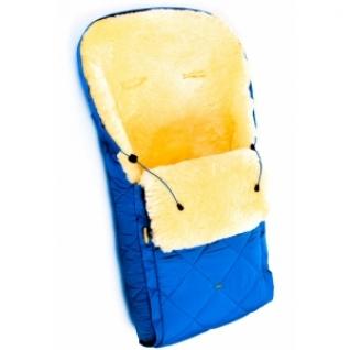 Детский меховой конверт из натуральной овчинки Ramili Baby Classic Blue