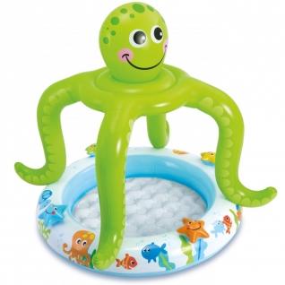 """Детский надувной бассейн с навесом """"Осьминог"""", 102 х 104 см Intex"""