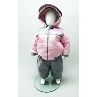 Комплект MalekBaby Куртка + Полукомбинезон, Овечья шерсть, Зима, Розовый 476ШМ