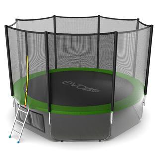EVO FITNESS Батут Evo Jump External 12ft (Green) + Lower net