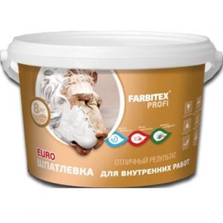 Шпатлевка для внутренних работ FARBITEX ПРОФИ, 3 кг.